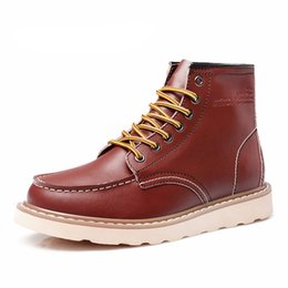 Wholesale Waterproof Men s Ankle Boots Spring Warm Martin Boots for Man Fashion Snow Fur Boots Mens Shoes Western Motorcycle Boots