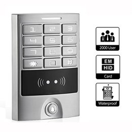 Wholesale RFID KHz IP65 Waterproof Backlit Metal Keypad Panel Access Control Reader For Entry Security Silver F1223D