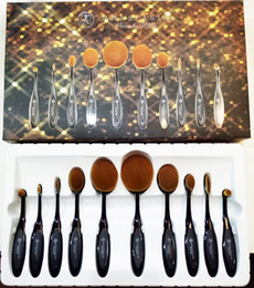 Wholesale Ana Makeup Brushes Set Oval Blending Brush Multipurpose Mermaid Toothbrush Foundation Powder Face Brushes Pro ABH Makeup Tools