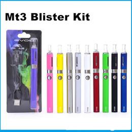 EVOD MT3 Blister Pack kit eGo Starter Kits Single kits E Cigs Cigarettes 650mah 900mah 1100mah Battery Evod Mt3 Kit Metal