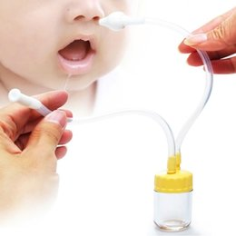 New Born Baby Safety Nose Cleaner Vacuum Suction Nasal Aspirator Free Shipping # YE1063