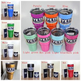 Wholesale Best Gift In Stock Yeti Cups Multi Cooler Stainless Steel YETI Rambler Tumbler Cup Car Vehicle Beer Mugs Vacuum Insulated Refly Free DHL
