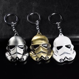 bagues clipsaires Promotion Star Wars la Force Awakens - Stormtrooper Character Purse Pouch Holder Ring Phone Key Chain Clip Blanc Pendentif Dangle Decor Accessory