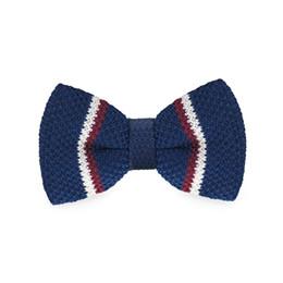 Men's Blue Bow Tie Tuxedo Adjustable Party Casual Stylish Fashion Bow Tie Gift Box Men's Fashion Accessories F-324