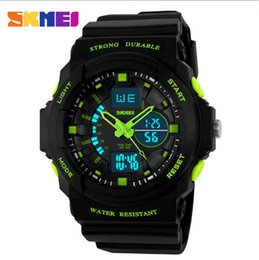 Wholesale Skmei White Silicone - Skmei Brand Relogio Masculino Men Sport Digital Watches LED Jelly Military Male Clock Wristwatch 50M Waterproof Student Watch