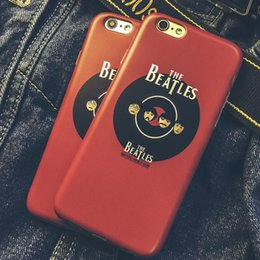 Wholesale ROCK TPU Backcover Cell Phone Case for iPhone6 s plus splus High Quality Soft Silicon Classic Band The Beatles Pattern