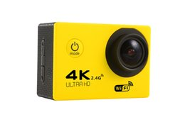 retail Diving camera Action Camera 4K F60 WiFi 15fps Sport extreme Diving Helmet mini Cam 30M Waterproof go pro camera waterproof