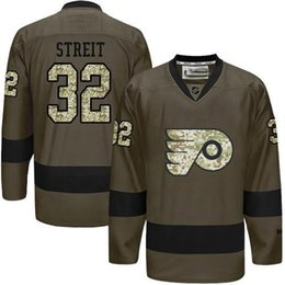 Wholesale Philadelphia Flyers Mens Jerseys Mark Streit Army Green Salute to Service Ice Hockey Jersey