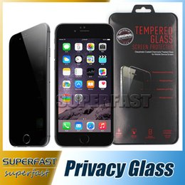 Wholesale For iPhone7 Privacy Tempered Glass Privacy Screen Protector Anti Spy Cover Shield For Google Pixel Galaxy S6 with Retail Package