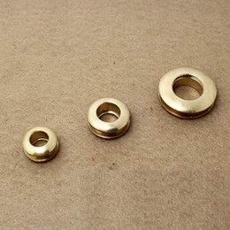 free shipping 10 pieces brass gas hole screw Threaded connection eyelet DIY bag belt part hardware handmade cloth ring buckle hole