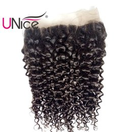 UNice Hair Malaysian Curly Wave Lace Frontal 13x4 Ear to Ear Free Part Lace Closure Unprocessed Human Hair Lace Frontal 10-20inch