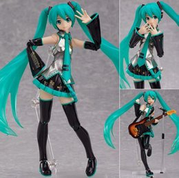 14cm figma 200 sexy anime pvc action toy figure Hatsune Miku MIKU hand movable doll model with box gifts 3pcs