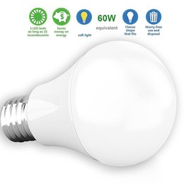 Wholesale W Equivalent W LM LED A19 E27 Led Bulb Light Warm Cold White CRI90 Lumens Medium Screw Base AC V UL Listed