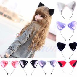 Mignon cosplay fille à vendre-Le vendeur paie / Livraison gratuite Fille mignonne de Fox de chat de mode d'oreille longue cheveux de fourrure Bandeau Anime Costume de partie de Cosplay