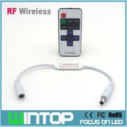 Wholesale DC5 V A Mini RF Dimmer Controller Keys RF Remote Controll for Single Color LED Strip Flexible Light Led Tape