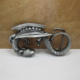 BuckleHome dragon belt buckle animal belt buckle with pewter plating FP-02855 free shipping