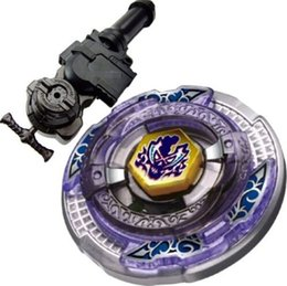 Wholesale Toupies Beyblade Scythe Kronos Metal Fight D Beyblade BB113 L R Starter Launcher Hand Grip Light Launcher