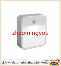 YON 1LED 10lumens LED wireless nightlights with Motion sensor + light sensor (use 4pcs*AA battery ) in livingroom or anywhereA