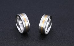 Wholesale News Titanium Steel Rings Gold and Silver Alternate Rings For Men Jewelry Stainless Steel Rings