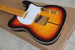 Wholesale ALLNEW upscale CASTER full dog tele electric guitar signature model nugget optional tiger maple neck