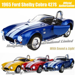 1:26 Scale Alloy Metal Diecast Car Model For 1965 Ford Shelby Cobra 427S C Collection Class Model Toys Car With Sound&Light