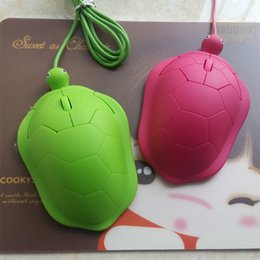 Wholesale Mini Cute Tortoise Wired D Optical Turtle Shape Mouse USB D Animal Mice for Laptop Computer Comfort Hand Cartoon Mouse Gamer Children Gift