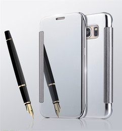 for Samsung S7 Luxury Smart Mirror Leather Cover case for Sansung Galaxy S7 G9300 + free shipping
