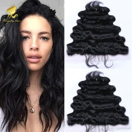 Malaysian Lace Frontal Closures 13*4 or 13*2 body wave Free Middle 3 Part Full Lace Frontal Human Hair Natural Black