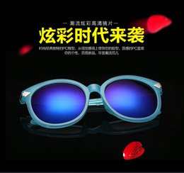 Wholesale Han edition dazzle colour sunglasses restoring ancient ways round frog mirror arrow sunglasses female sunglasses sun