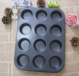 Wholesale Sell Muffin Cups - Wholesale-Ten one cup non-stick muffin cake mold egg tart mould manufacturers selling baking tools