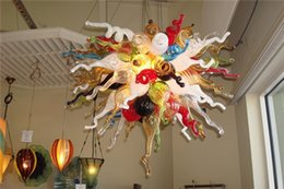Hotsale Chihuly Style CE UL Certificate Energy-saving Murano Art Glass Crystal Livingroom Decorative Smart Colorful Chain Ceiling Chandelier