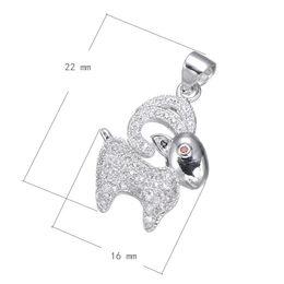 2016 Perles Chain Charms Cubic Zirconia Micro Inlay en laiton Pendentif Chèvre platine plaqué 22x16mm Trou: Environ 3,4mm 10PCS / Lot à partir de charmes de chèvre fournisseurs