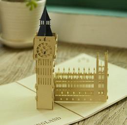 Wholesale Friendship greeting card London bigben anniversary card England souvenir card quot x0 quot