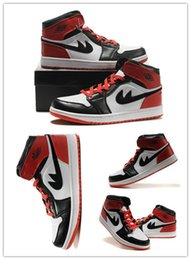 Wholesale Sport Shoes Discount China - Free Shipping China Shoes Black New retro 1 Men Basketball Shoes Cheap Air Sports Sneakers with discount 8-13