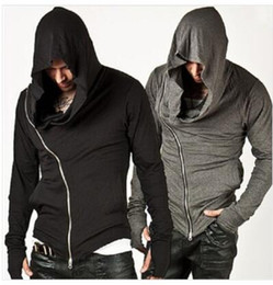 Men's Casual Assassin's Creed Hoodie Sports Sweatshirt grey black Stalker Hoodie free shipping