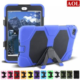 Wholesale For iPad Mini Shock Proof Military Heavy Duty Hard Case Cover Colors shockproof defender case