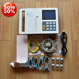 5.7in six channel ECG 12 lead+ECG work station pc, Electrocardiograph, hot sale 6 channel ECG machine,digital ecg, portable handheld ecg ekg