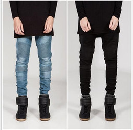 Men's New Jeans Young-aged Jeans Man Casual Large Size Men Denim Jeans Middle Waist Straight Solid Color Long Pants 2016 Clothes