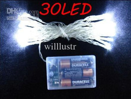 30 LED string MINI FAIRY LIGHTS BATTERY power OPERATED 3XAA Battery Christmas lights xmas wedding party flash pure white warm white Fedex
