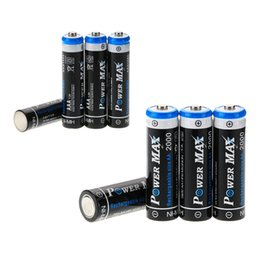 Wholesale 8 a set V AA mah plus mAh AAA POWER MAX NI MH Rechargeable Battery