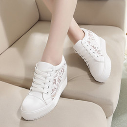 Wholesale 2016 new women s shoes in autumn increased net shoe fashion shoes casual shoes lace white shoes