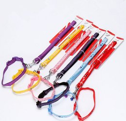Nylon Applique Dog Cat Pet Leash&Collar Cartoon Cute Dog Harness Good Qualty Dog Lead Rope Pet Supplier Mix Color 2 Size 20PCS LOT