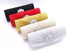 Wholesale New Clutch Handbags Party Clutches Hand Bags Designer Party Bag Gift Sequins Genuine Satin Bag Women's Evening Bags Free shippinng