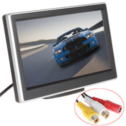 Canada 5 pouces 2 voies Entrée vidéo TFT LCD 480 x 272 Définition Digital Panel Color Car Rear View Monitor pour caméra de recul lcd video display monitor on sale Offre