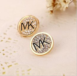 Wholesale High quality logo new women Set auger stud earrings round earrings