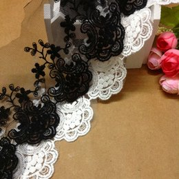 Wholesale Apparel Sewing Fabric Lace Yard High quality diy manual accessories cotton lace fabric decoration net embroidery lace trim flower cm