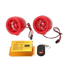 Descuento sistema de alarma a distancia un coche dvd del coche a prueba de agua de la motocicleta de audio MP3 sistemas de altavoces de alarma de radio de FM de la motocicleta a distancia inalámbrico con la ranura del USB SD (color al azar) para $ 18Nadie trac