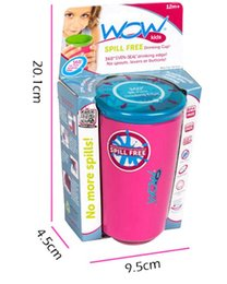 Wholesale Wow Cup for Kids with Freshness Lid Spill Free Drinking Cup Baby Magic Cup baby lovely cup colors with retail box