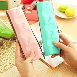 New Fashion Silicone Chocolate Style Pencil Pen Case Cosmetic Bag Coin Purse Makeup Storage Bags School Prize