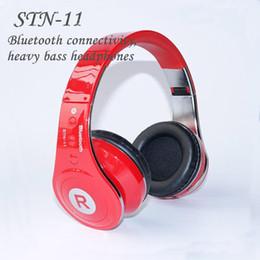 Wholesale STN Bluetooth Headphone Headset Wireless Stereo Earphone Best Quality Bluetooth Version Headset Brand Mp3 Music Sport Earphones